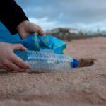 Plastic at a beach